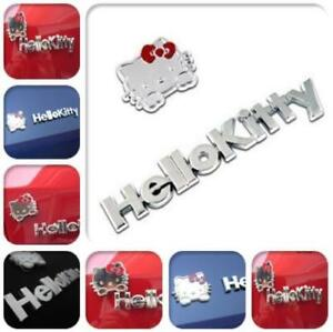 Hello Kitty Metal Car Sticker Cute 3d Emblem Decal Accessories Motorcycle Badge