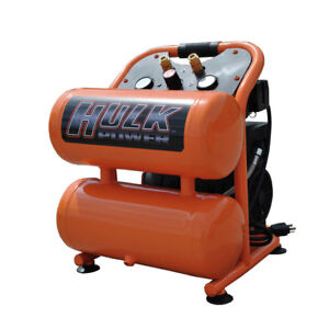 Hulk Hp15p004ss 1 5 Hp 4 Gal Silent Air Portable Compressor New