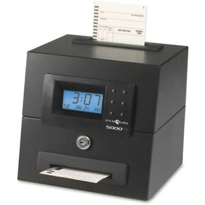 Pyramid Time Systems 5000 Heavy Duty Auto Totaling Time Clock 5000hd