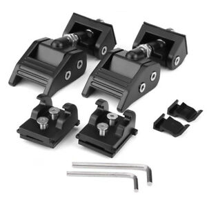 2x Hood Lock Latch Bracket Buckle Hold Down Wrenches For Jeep Wrangler 2007 2017