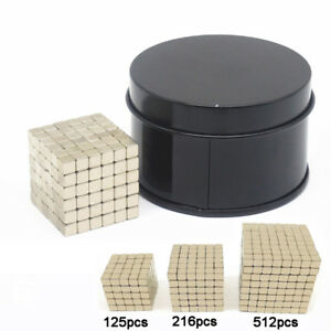 125 216 512pcs 5mm Cube Magnets Neodymium Rare Earth Block Strong Magnetic