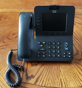 Cisco Cp 8945 Unified Gigabit Video Voip Poe Speaker Phone With Camera W Stand