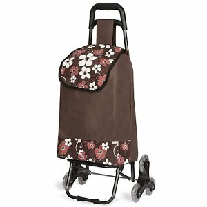 Rolling Shopping Bag Grocery Laundry Folding Trolley Cart Tote Basket Wheels