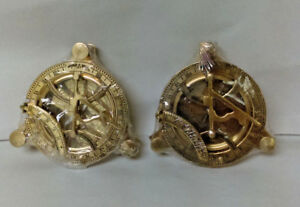 4 Inches Solid Brass Sundial Compass Pack Of 2