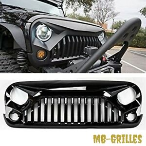 2007 2017 Jeep Wrangler Gladiator Angry Bird Ii Grill Gloss Black