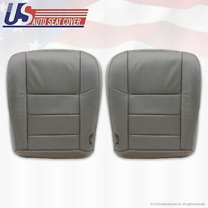 2002 2003 2004 Ford Excursion Driver Passenger Bottom Leather Seat Covers Gray