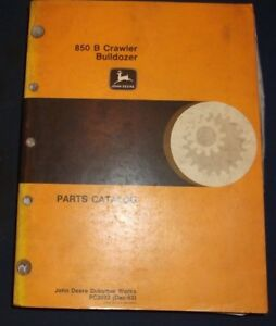 John Deere 850 b Crawler Tractor Dozer Bulldozer Parts Manual Book Pc2032