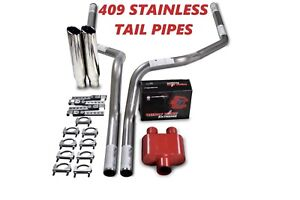 09 18 Dodge Ram 1500 Stainless 2 5 Dual Exhaust Cherry Bomb Extreme Clamp Tips