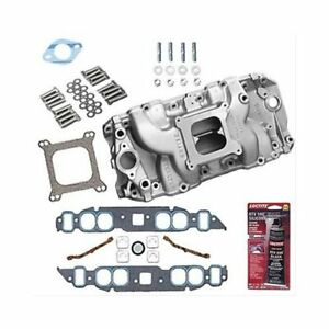 Bbc 396 454 Chevy Oval Port Weiand 8019 Intake W Gaskets Bolts Pro Pack