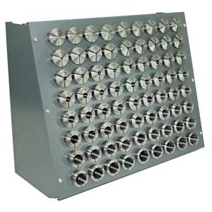 72 Pc Precision Inch 5 c Collet Set W rack 1 16 To 1 1 8 1 64th Sizes 5 C