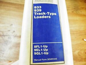 Cat Caterpillar 933 939 Track Loader Service Manual 8fl 9el 9gl