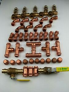 50 1 2 Propress Copper Brass Fittings Lead Free