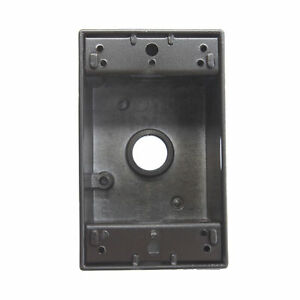 Pass Seymour Wpb24 br 1 gang Weatherproof Outlet Box 4 1 2 Holes Bronze