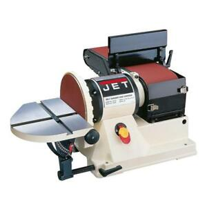 Jet 3 4 Hp Benchtop Belt Disc Sander Dust Collection Cast Iron Table Tool 115v