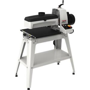 Jet Drum Sander With Stand Worktable Woodworking Machinery Equipment Power Tool