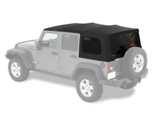 2007 2017 Jeep Wrangler Jku 4 Door Original Mopar Soft Top Kit Window Surround