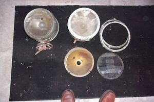 1920 S Antique Car Star Ford Chevy Reo Brass Headlights W Other Parts