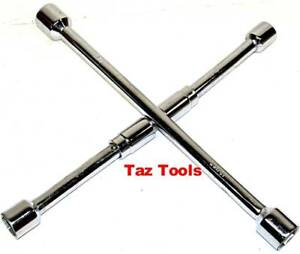 Folding Lug Wrench Sae Cross Wrench Tire Nut Remover 11 16 3 4 13 16 7 8