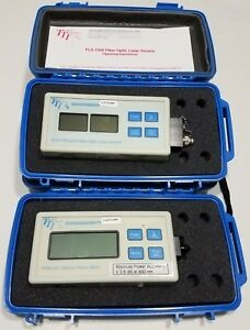 Tti Fpm250 Optical Power Meter Fls1350 Dual Fiber Optic Laser Source 1310 1550nm