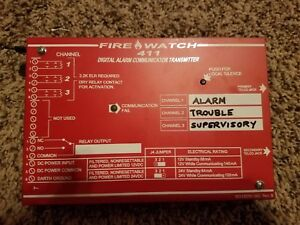 Fire lite notifier Fire Watch 411ud Digital Alarm Communicator Dialer Used