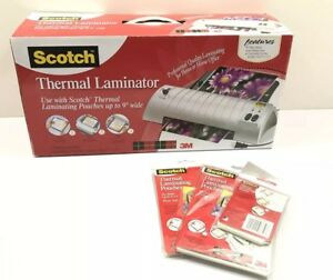 Nib Scotch Thermal Laminator Tl901 With 3 Pack Thermal Laminating