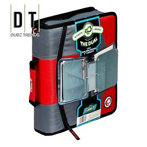 Case It Dual 2 in 1 Zipper D ring Binder 2 Sets Of 1 5 inch Rings Dual 10 red