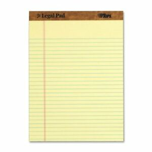 Tops The Legal Pad Ruled Top Perforated Pad 50 Sheet 16 Lb 8 50 X 11 75