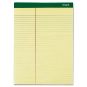 Tops Letr trim Perforated Law ruled Writing Pad 100 Sheet 16 Lb top63396