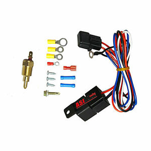 185 Degree Electric Radiator Engine Fans Thermostat Temperature Switch Relay Kit