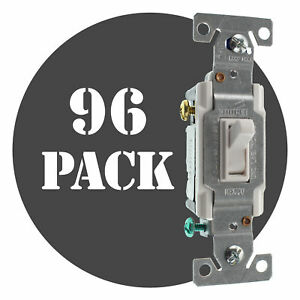 Hubbell Rs315ilwz Lighted Toggle Switch 3 way 15a 120v White 96 pack
