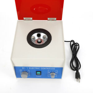 Electric Benchtop Centrifuge Lab Medical Practice 4000rpm With 6 20ml Rotor Usa