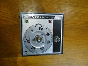 Vintage Statop 2 Ss Chauvin Arnoux Controller Temperature 600 Degrees