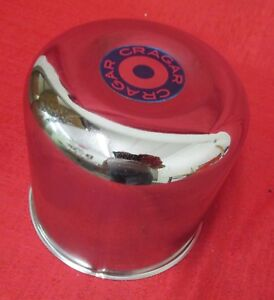 Cragar Center Cap 29088 Round Top Blue Logo New Chrome Push Thru Metal