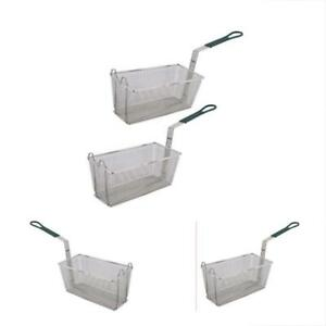 Fryer Kitchen Dining Basket Set Of 2 13 1 4 X 6 1 2 with Plastic Green Handle