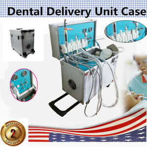 Portable Dental Delivery Unit curing Light slow Suction Three way Syring Us Hot