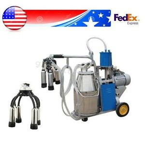 Usa Great Milker Electric Piston Vacuum Pump Milking Machine For Farm Cow Milk