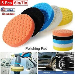5pack Car Polisher 6 7 Inch Sponge Polishing Waxing Buffing Pads Kit Compound