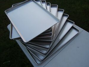 Lot Of 9 Panco Full Size Sp1826 18 X 26 X 1 Wire Rim Baking Bakery Sheet Pans