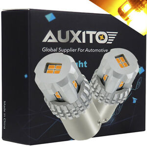 Auxito 2x 1156a 7506 Amber Led Turn Signal Light Bulb Blinker Parking Yellow