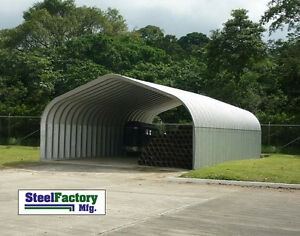 Steel Factory Do It Yourself Carport P series 30x30x15 Pitched Roof Building Kit