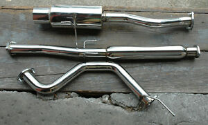 Stainless Rear 4 Tip Cat Back Exhaust System Bolt On For Acura Integra Rs Gs Ls