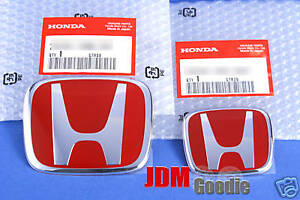 Real Jdm Honda 06 Civic Coupe Type r Red H Emblems