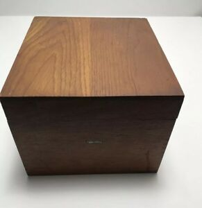 Vintage Globe Wernicke Oak Dovetailed Card Recipe File Box No 7510 C Cincinnati