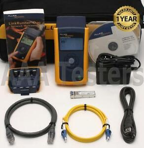 Fluke Networks Linkrunner Duo Gigabit Copper Fiber Network Tester