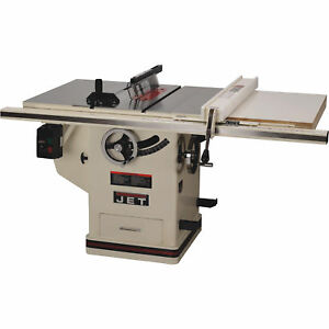 Jet 10in Deluxe Xacta Table Saw 5 Hp 1 Phase 30in Rip Model jtas 10xl30 5 1dx
