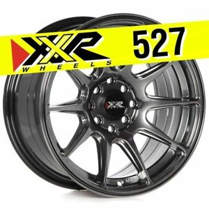 Xxr 527 15x8 4 100 4 114 3 20 Chromium Black Wheels set Of 4 Fits Honda Civic