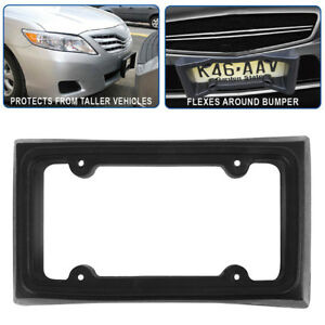 Bumper Guard License Plate Frame Holder For Front Mount Bracket Car Protector Us