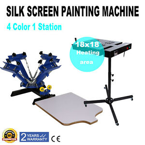 18 X 18 Flash Dryer Silk Screen Printing T shirt Curing 4 Color 1 Station