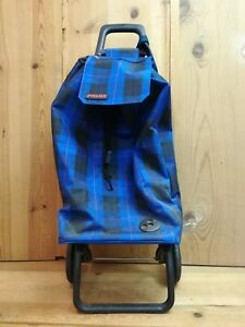 Rolser Shopping Trolley Wheeled Cart Blue Bag Folding Basket Grocery Waterproof