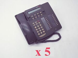 Lot 5 Lucent Avaya 6416d Business Phone Grey 16 Button 6416d01a 323